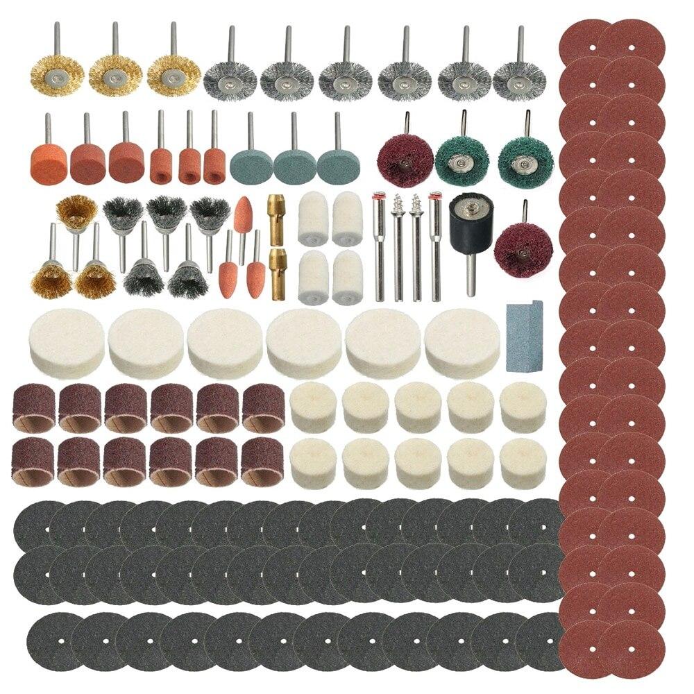 374Pcs Rotary Tools Accessory Kit Abrasive Tools Mini Drill Bit Set For Wood Sanding Polishing Cutting Grinding