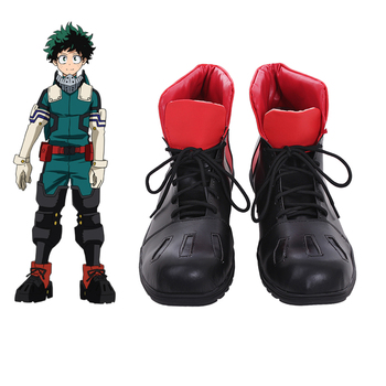 5e4a98e5 Cosplaydiy hecho a medida Anime mi héroe Academia 3 zapatos Boku no Hero  Akademia Izuku Midoriya Cosplay zapatos botas L320