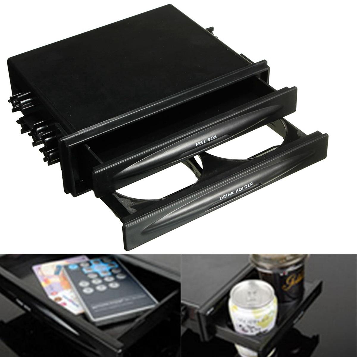 El más nuevo Kit de Radio Din doble de plástico para coche Universal para soporte de vaso de bebida de bolsillo y caja de almacenamiento