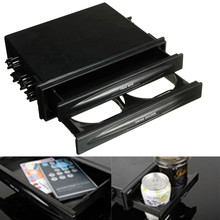 Newest Universal Car Auto Plastic Double Din Radio Kit For Pocket Drink-Cup Holder & Storage Box