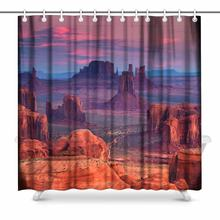 Aplysia Sunrise in Hunts Mesa Navajo Tribal Majesty Place Near Monument Valley Arizona Usa Fabric Shower Curtains(China)