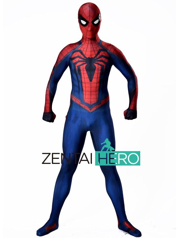 ZentaiHero 3D Shade Spidey PS4 Insomniac Games Spiderman Costume Spandex Lycra Spider-man Superhero Costume For Halloween Party