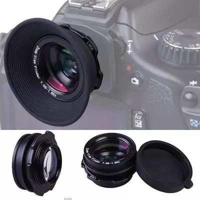 1.08X-1.60X Zoom Camera Viewfinder Eyepiece Magnifier <font><b>Lens</b></font> For <font><b>Sony</b></font> a100 a330 <font><b>a230</b></font> a270 a300 a330 a350 a450 a500 DSLR Camera image
