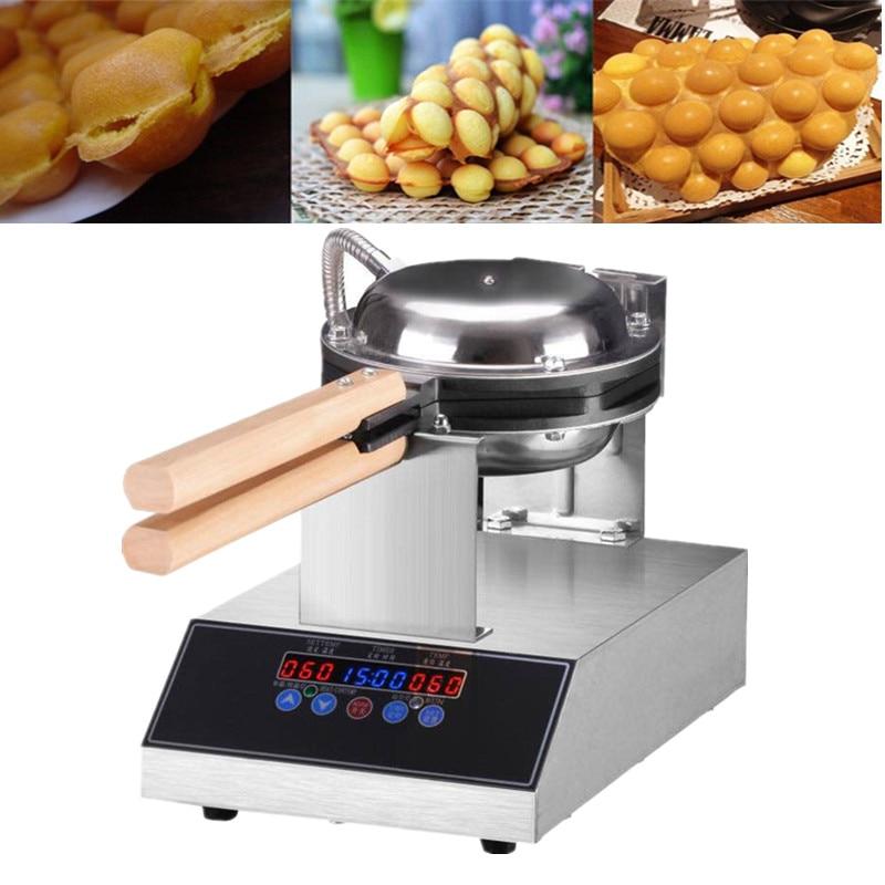 Professional Electric Chinese Hong Kong Eggettes Puff Waffle Iron Maker Machine Bubble Egg Waffle 220V 110V EU US UK Plug
