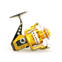 New high-quality Metal aluminum 12+1BB Spinning Fishing Reel Carp Bass Sea Fishing Reel Fishing Tackle BE1000-7000 5.5:1