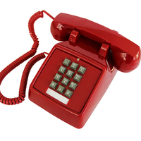 Retro Telephone Landline Old Fashioned American Antique fixed Phone Office Home Hotel movie black white red telefono fijo