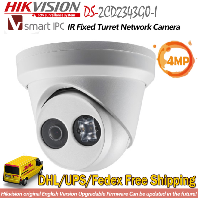 US $122 0 |Hikvision DS 2CD2343G0 I 4 MP IR Fixed Turret Network Camera  English Version 120dB WDR H265+ ONVIF IP Dome Webcam CCTV Security on
