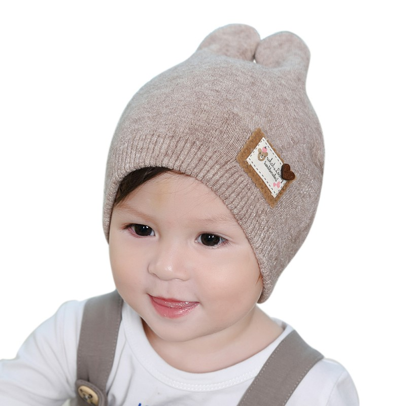 2017 Spring Autumn Winter Infant Toddler Knitted Hat Rabbit Long Ear Baby Bunny Beanie Cap