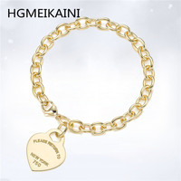 HGMEIKAINITiff 100% hit real 925 sterling silver by DianXin bracelet gold jewelry DIY fashion ladies gifts