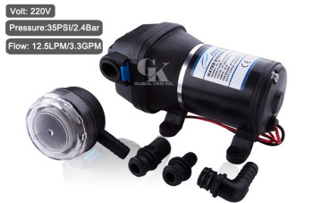 220V Self-priming Diaphragm Pump 35PSI Pressure Boost Water Pump 12.5LPM for RV/Yacht, Agricultural Spraying