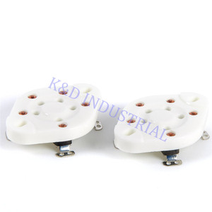 Image 3 - 5 pcs 슬리버 플레이트 5Pin 세라믹 튜브 소켓 밸브 기본 807 27 37 56 76 46 FU7 24 U5A