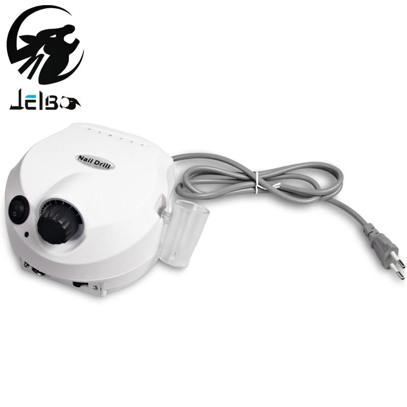 Jelbo 35000RPM Pro Electric Nail Drill File Bit Machine Manicure With Upgraded Version Silicone Case Anti-scald Handle Manicure