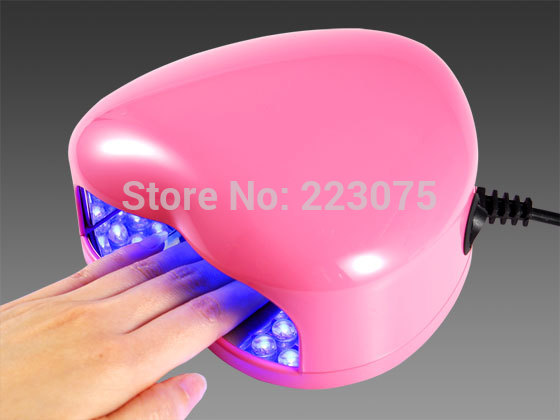 110v or 220v LED Lamp Soak-off Gel Polish Nail Cure UV Dryer Heart-shaped 3W Manicure Machine pink ewa
