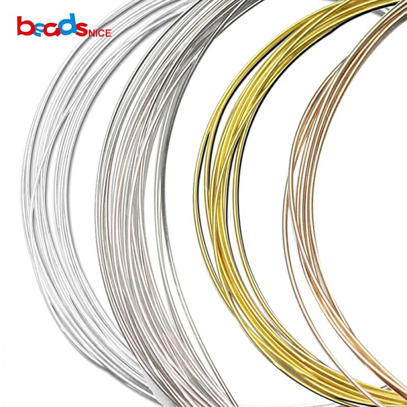 Beadsnice ID26882 Wholesale Wire Of Jewelry Accessories 24ga Round Solid 925 Sterling Silver Wire