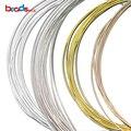 Beadsnice sólido 925 prata esterlina beading fios duros jóias acessórios diy crafting fios atacado jóias encontrando 18-28ga