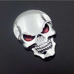 Metal Sticker Skull Skeleton Car/motorcycle-Decal Badge Emblem 3D 1PC Devil Cool Creative
