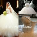 Free Shipping  a line long design dream big train wedding dress slim formal dress luxury 2014 train wedding dress