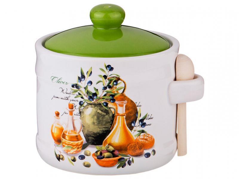 Банка для сыпучих продуктов Lefard, Греческая оливка, 400 мл чашка бульонная lefard греческая оливка 620мл керамика