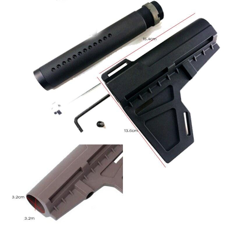 PB Playful Bag New Model Gel Ball Gun Jinming9 Nylon KAK Tomahawk Gunstock Upgraded Material Mount Barrle Brace Accessory KI24