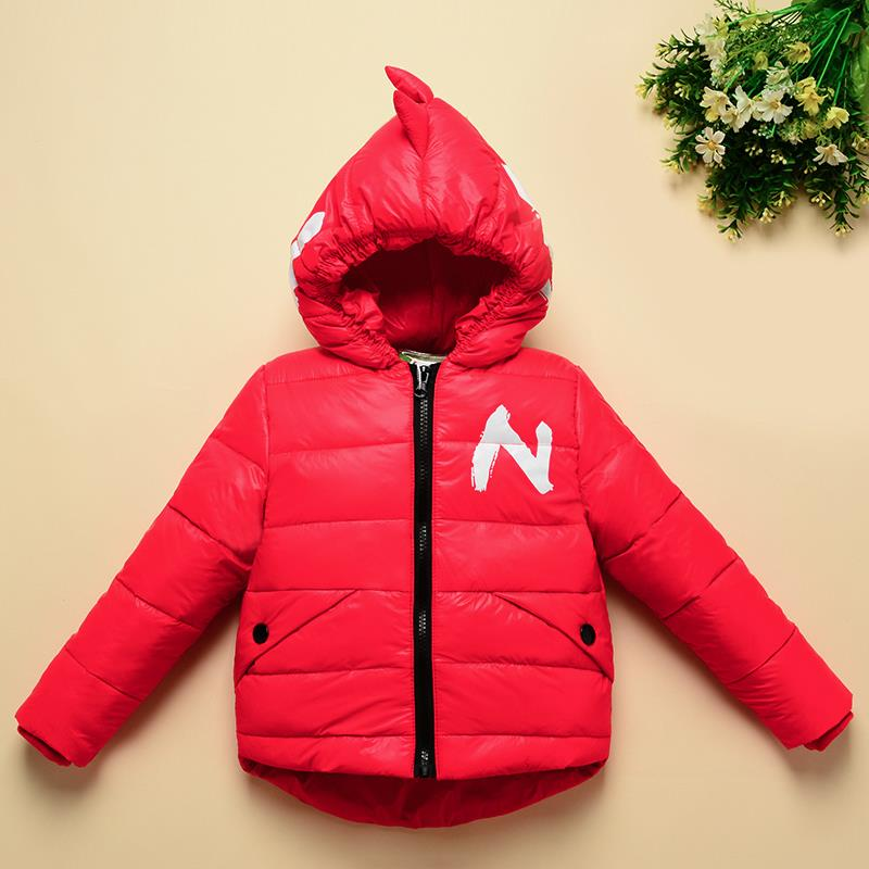 Winter Children Boys Jackets Cartoon Tyrannosaurus Girls Winter Coat Kids Outerwear Baby Boys/Girls Down Jacket Infant Clothes 5