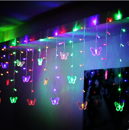 New Year Butterfly Garland LED Christmas Lights Outdoor Navidad LED Cristmas Lights Decoration Fairy Lights Cortina De Led Natal new year decoration garland led christmas lights outdoor 4x6m 220v cristmas lights led net light luces de navidad para exterior