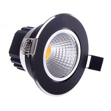 Free shipping Black shell aluminum 10W 15W Dimmable LED COB downlight Recessed Ceiling light Spot Lamp White/ warm white