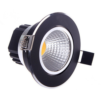 Free shipping Black shell aluminum 10W 15W Dimmable LED COB downlight Recessed LED Ceiling light Spot Lamp White/ warm white 60d 1w led downlight recessed led ceiling light 1w spot light lamp white warm white led lamp epistar 1wx6pcs chip free ship