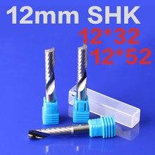 1 шт. 12 мм SHK один Флейта конце фрезы Спираль Бит ЧПУ Инструмент один Флейта акриловые Резьба Фрезер