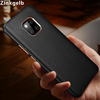 For Huawei Mate 20 Pro Cover Case Luxury Slim Soft Genuine Leather Armor Protective Back Phone Case for Huawei Mate 20 Case Capa