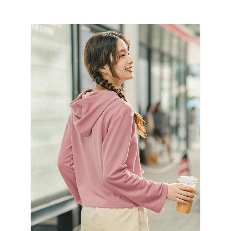 INMAN 2019 осень новое поступление повседневные тонкие удобные универсальные свободные женские толстовки с принтом