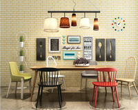 Beibehang Mediterranean Brick Wallpapers 3D TV Background Wall Pure White Brick Living Room Bedroom Non Woven