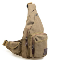Refreshing Summer Brand New Canvas Messenger Bag Chest Bag Korean Version Of Casual Bags Wholesale Influx