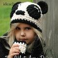 CN-RUBR Cute Cartoon Panda Baby Hat Scarf Sets Winter Children Wool Cap Kid Baby Hat and Scarf New Arrival European Style Cap
