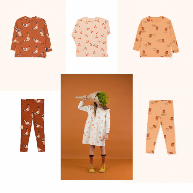 Kids Clothes Sets 2018 Tiny Cottons Brand Autumn Winter Boys Girls Long Sleeve Print T Shirts + Pants 2pcs Baby Children Suits цена
