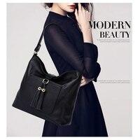New Fashion Gelance Tassel 100 Genuine Leather Women Big Handbag Ladies Messenger Bag Designer Purse