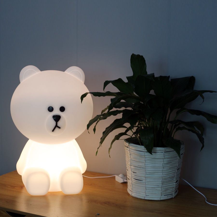 Dimmable Led Night Light for Baby Children Kids Gift Animal Cartoon Decorative Lamp Bedside Bedroom Living Room Rabbit / Bear decorative cartoon bear led night light silicone white bedside night lamp for children baby christmas birthday gift