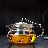 450ml pote de vidro criativo resistente ao calor engrossar bule de vidro claro com filtro chaleira/chá cerimônia drinkware teaware como decoração