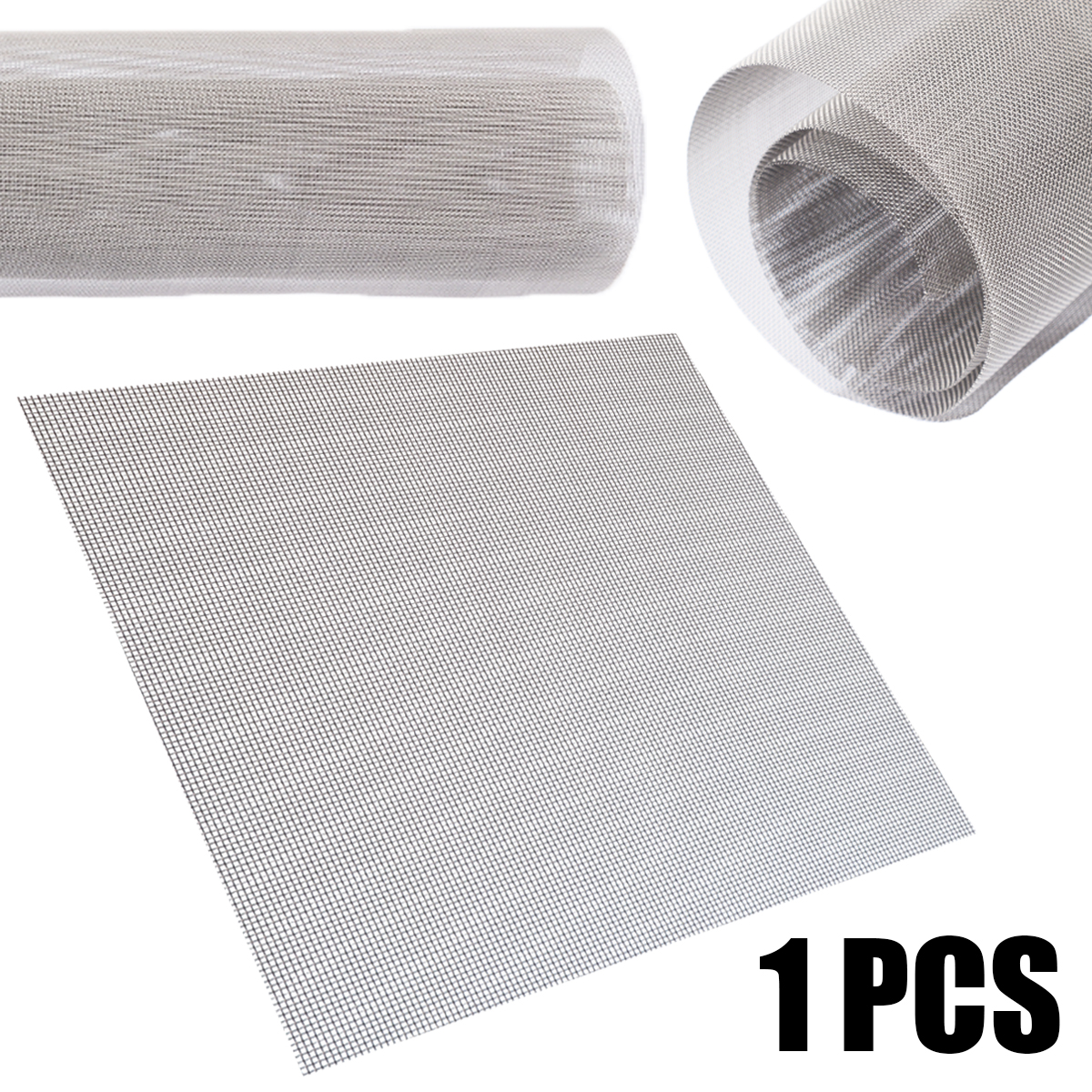 1Pcs 60 Mesh 304 Stainless Steel Filtration Woven Wire Mesh Cloth Screen 30x30cm with Weather Resistance For Industry Tools