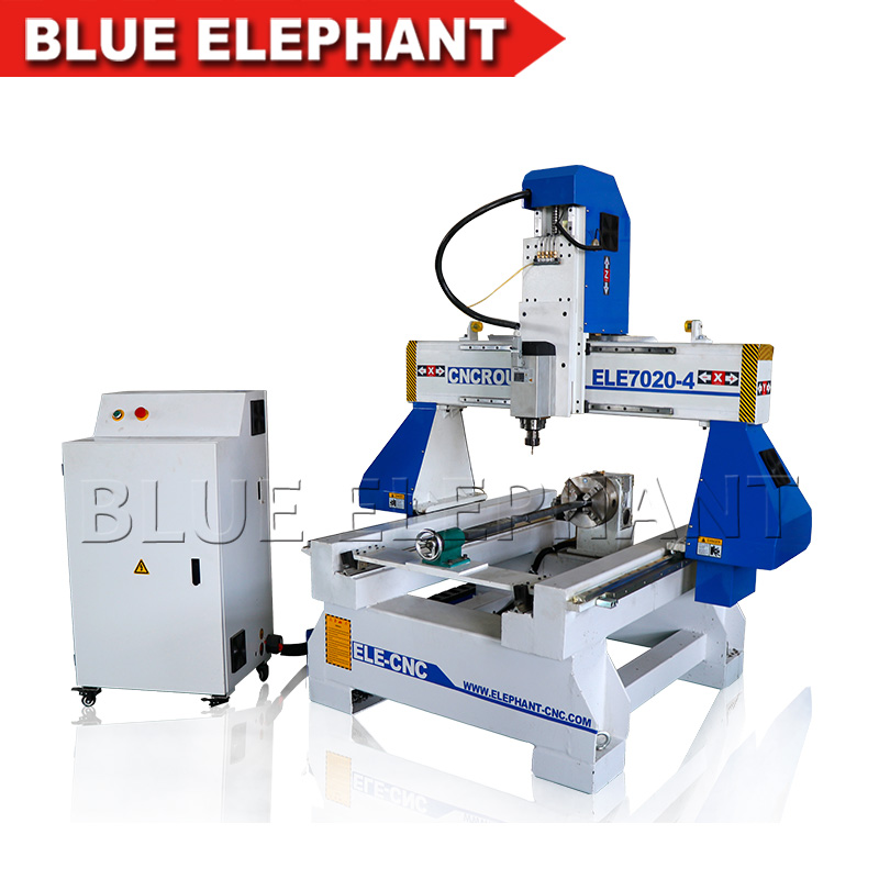 Rotary Device 7020 Automatic Cnc 4 Axis Wood Bead