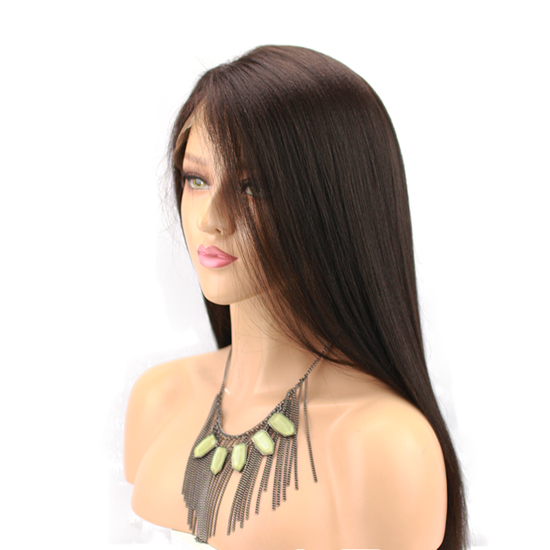 Yaki Straight Lace Front Wig Human Hair 13x4 Side Part Brazilian Remy Human Hair Wigs For Black Women Baby Hair Around Eseewigs