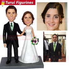 decorative collectibles custom bobblehead for bride and groom wedding cake topper personalized design antique arts