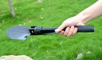 Multil Travel Kits Military Portable Folding Camping Shovel Survival Spade Trowel Dibble Pick Emergency Outdoor Tool