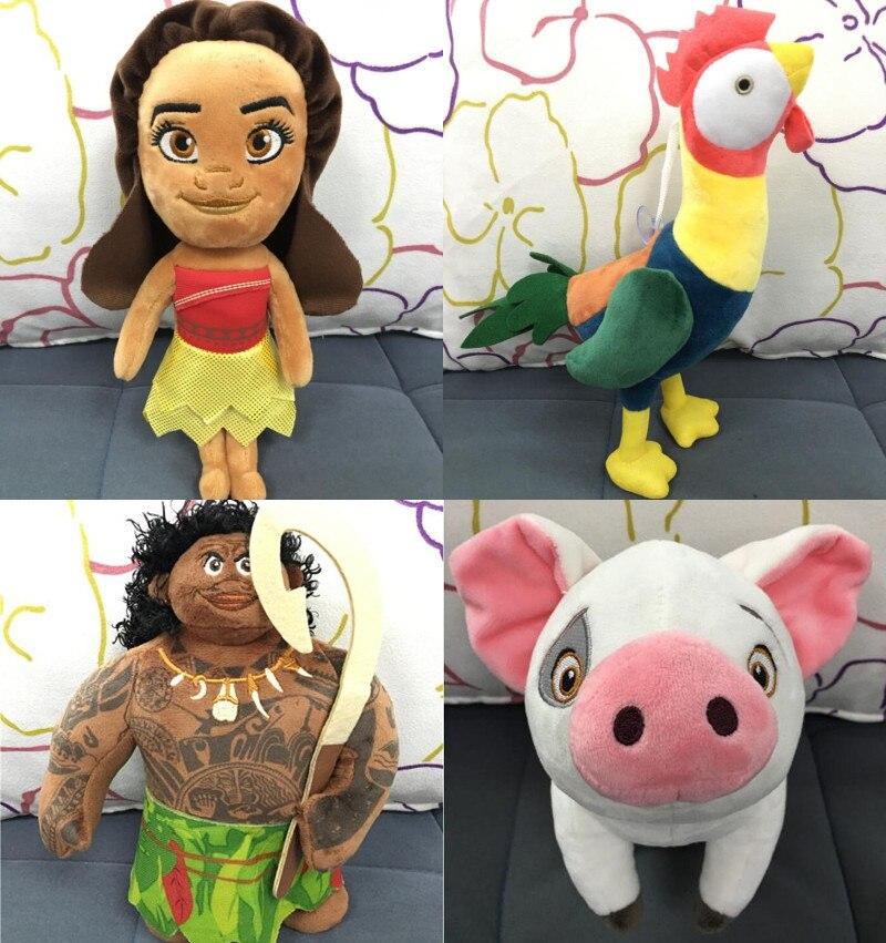 New Kawaii 20cm 30cm Moana Waialiki Chicken Pig Pua Plush Dolls Princess Toys Soft Stuffed animals