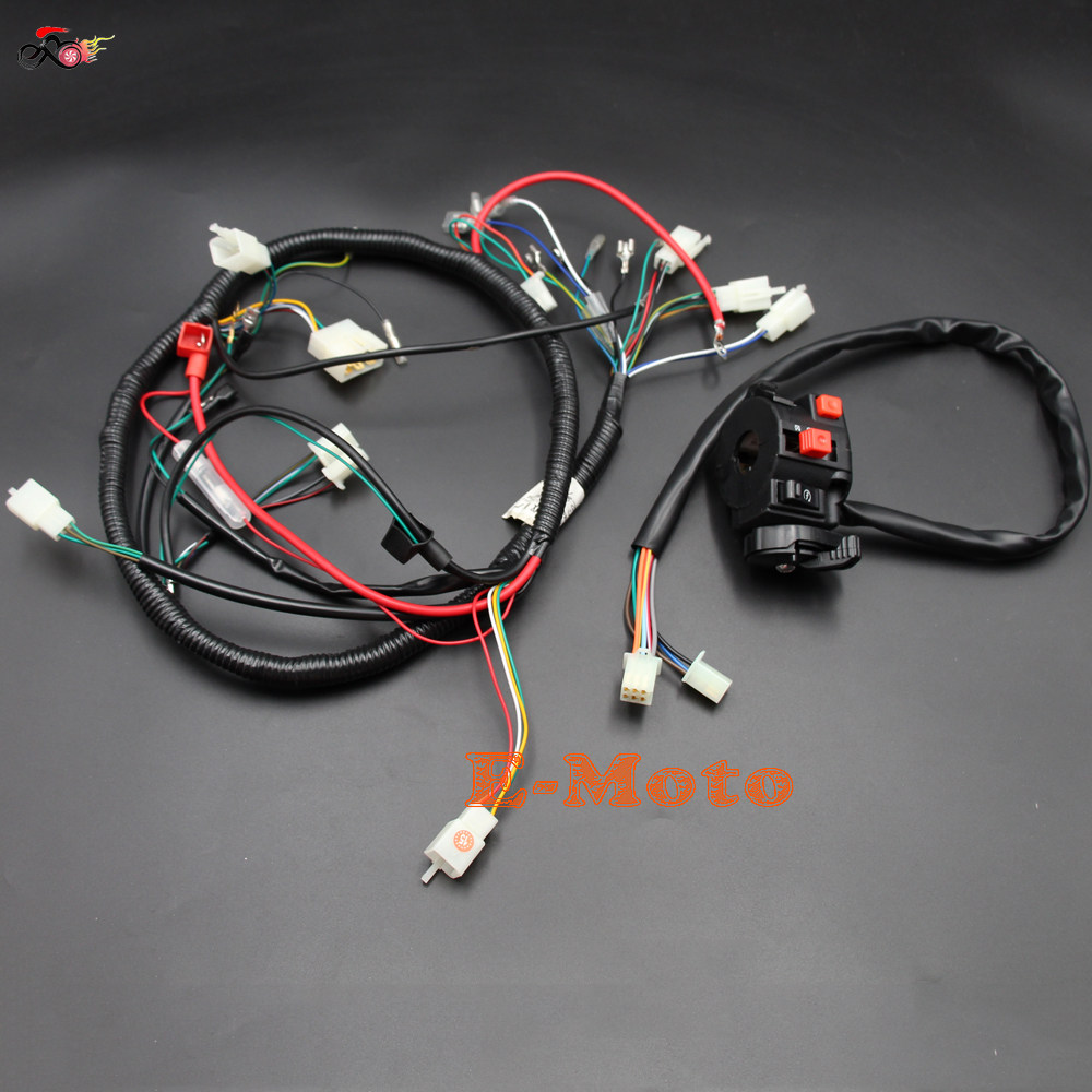 Online Shop Quad Wiring Harness Multi Functional Atv Switch Cb Cg 200 250cc Chinese Electric Start Loncin Zongshen Engine Ac 150cc 200cc Pit Dirt Bike Buggy