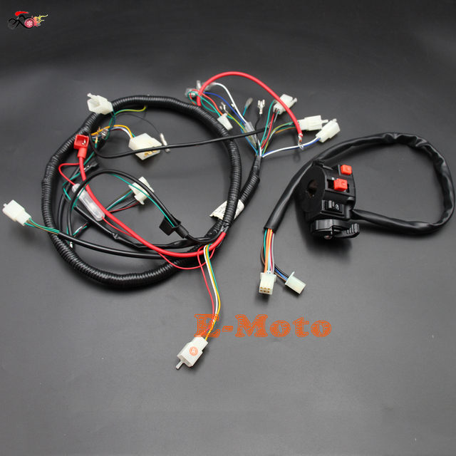 Engine AC Wiring Harness 150cc 200cc 250cc PIT Quad Dirt Bike ATV     Engine AC Wiring Harness 150cc 200cc 250cc PIT Quad Dirt Bike ATV Buggy    Switch Loncin