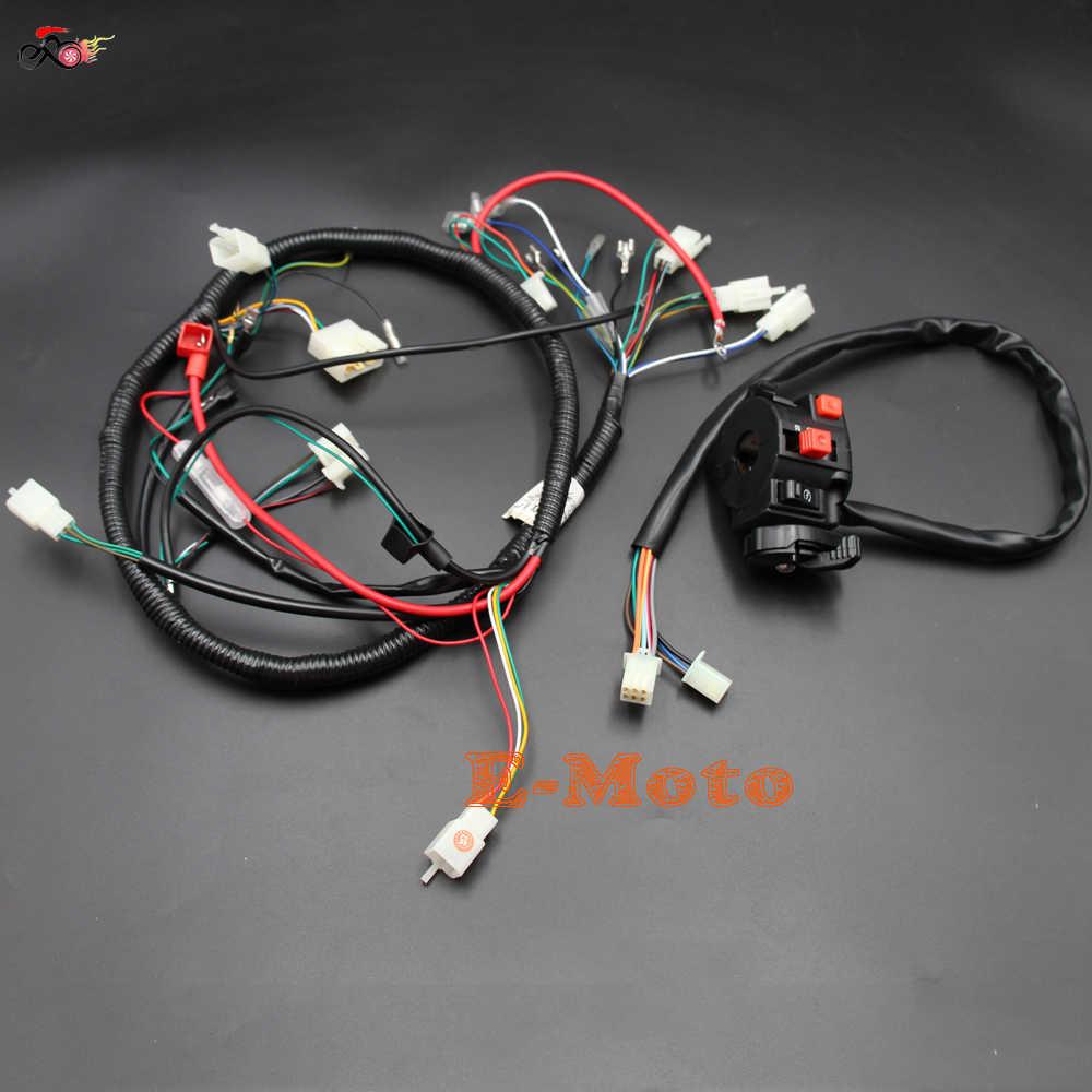 engine ac wiring harness 150cc 200cc 250cc pit quad dirt bike atv buggy &  switch loncin