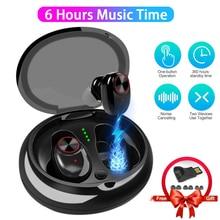 6Hrs Working Bluetooth Music Earphone Stereo Hifi Sound TWS Wireless Earbuds V5 Bluetooth Headphones with Bluetooth 5.0 head set