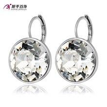 Xuping Fashion Top Venta de Cristales de Swarovski Pendiente de Colores Con El Color Plateado Del Encanto para Las Mujeres Regalo M1-XE2189