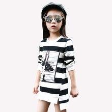 Tribros Enfants Vêtements Robes de Coton Rayé Filles Robes Chinois Style Nouveau-Né Bébé Fille Robes À Manches Longues Enfant Vêtements