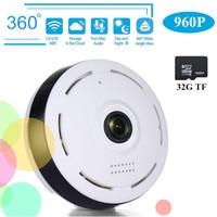 HD 360 Degree Panoramic Wide Angle MINI Cctv Camera Smart IPC Wireless Fisheye IP Camera P2P